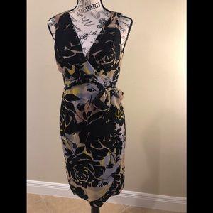 Banana Republic faux wrap dress with bow.
